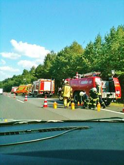Accident, A11 Motorway, Fire, Doctor On Call, Ambulance
