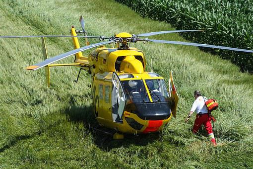 Helicopter, Rescue Helicopter, Fly, Adac, Air Rescue