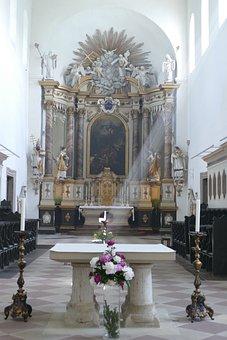 Monastery, Huysburg, Benedictine Monastery, Altar