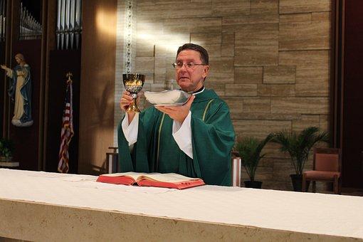 Consecration, Priest, Catholic, Mass, Host, Altar
