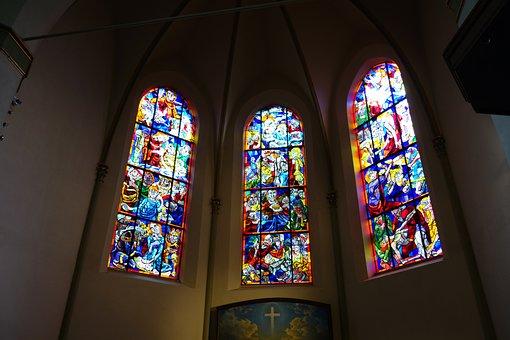 Church, Altar, Window, Church Window, Wilhelmshaven