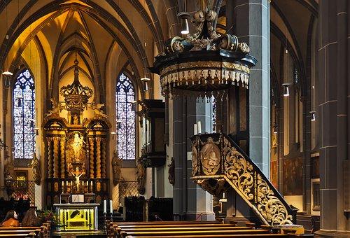 Church, Altar, Christian, Architecture, Baroque