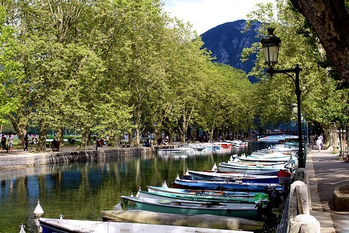 France, Annecy, Water, Romantic, Evening, Atmosphere