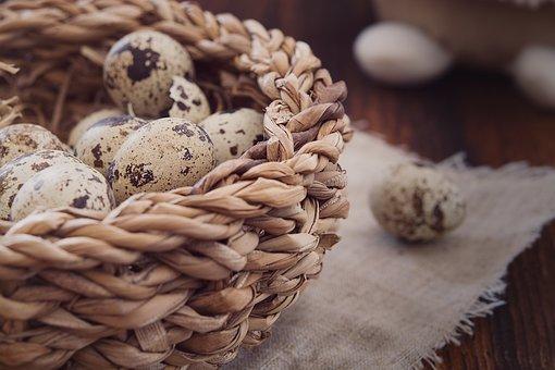 Quail Eggs, Egg, Small Eggs, Natural Product, Basket