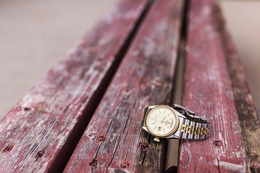 Watch, Wristwatch, Bench, Analog Clock, Old, Background