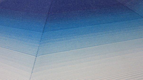 Fabric, Stripes, Blue, Blautöne, Tissue, Parasol