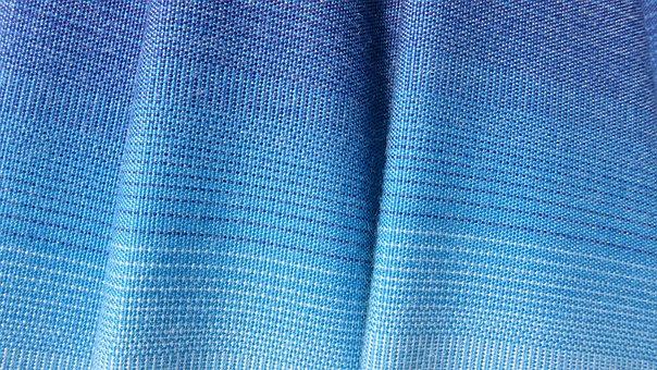 Fabric, Fold, Stripes, Blue, Blautöne, Tissue, Parasol