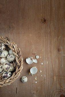 Quail Eggs, Egg, Small Eggs, Fragile, Broken