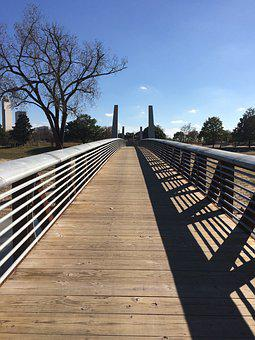 Foot Bridge, Houston, Buffalo Bayou, Texas