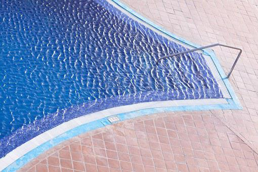 Swimming Pool, Entry, Handrail, Steel, Chrome Plated