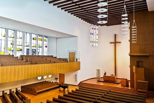 Church, Cross, Faith, Religion, Architecture, Altar