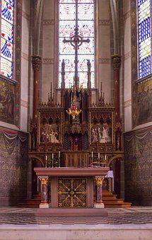 Architecture, Church, Altar, Vault, Building