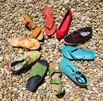 Shoes, Colorful, Stones, Rainbow, Lgbt, Diversity