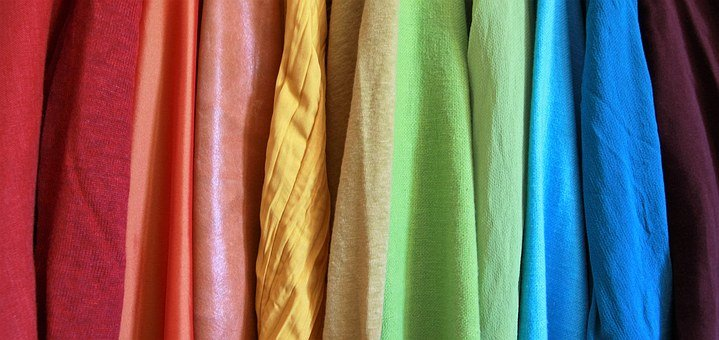 Rainbow, Different Fabrics, Colourful, Colorful, Splash