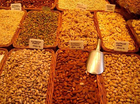 Market, Nuts, Food, Delicious, Hazelnuts, Nut, Tasty