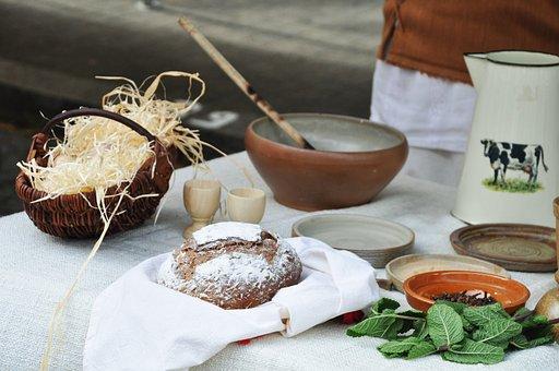 Farm, Kitchen, Dishes, Bread, Eat, Food, Recipe