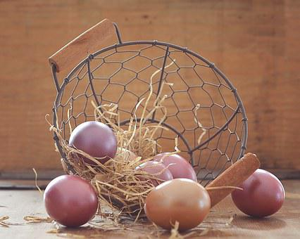 Easter Eggs, Egg, Colored, Colorful, Basket, Easter
