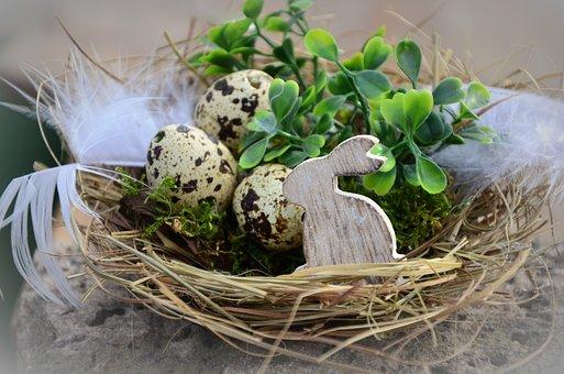 Easter, Easter Eggs, Nest, Easter Bunny, Basket, Hare
