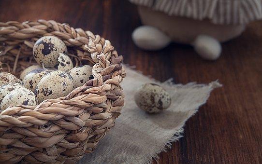 Basket, Egg, Quail Eggs, Easter, Custom, Customs