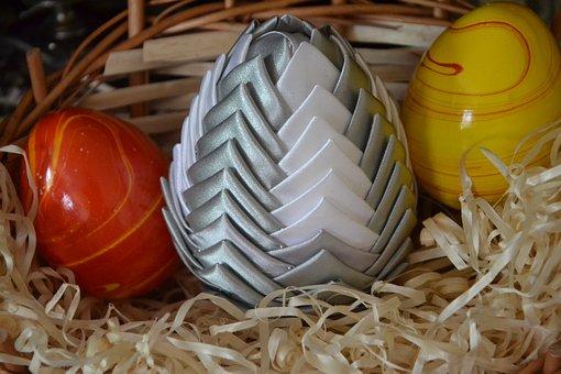 Egg, Eggs, Wielkanoć, Shopping Cart, Wicker