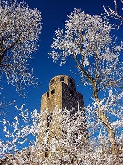 High Eight, Eifel, Winter, Tower, Monument, Germany
