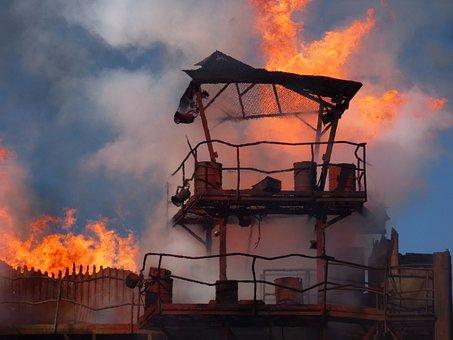 Blast, Fire, Explosion, Light, Flame, Detonation, Fiery
