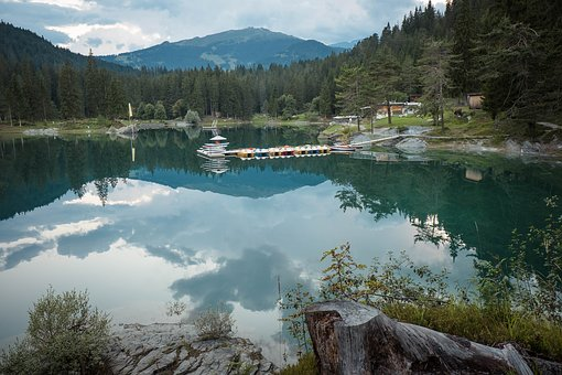 Flims, Graubünden, Switzerland, Caumasee