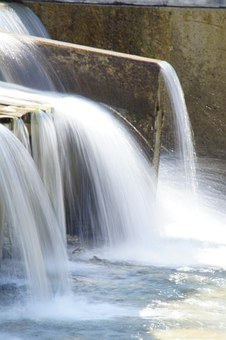 Water, Flow, Waterfall, Plunge, Liquid, Wet, Dammed