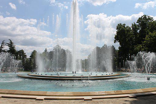 Fountain, Margaret Island, Budapest, Drops, Moment