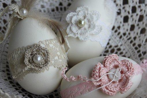 Easter Eggs, Decorating, Old Side, Gem, Decoration