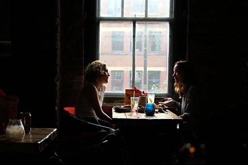 Interview, Restaurant, A Pair Of, Girls, England