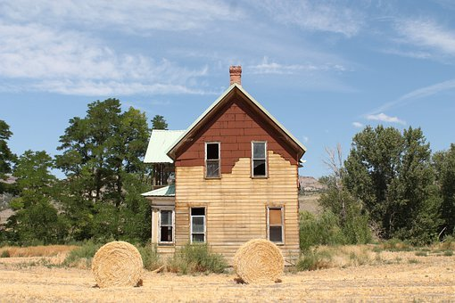 Homestead, Rural, Country, Summer, Farm, Scenic, Home