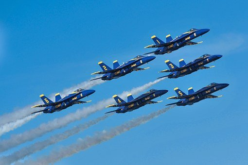Blue Angels, Jet, Fighter, Navy, Military, Plane, Air