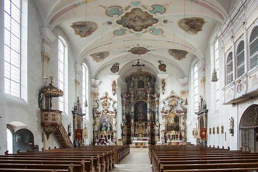 Langenargen, St Martin, Church, Altar, Lake Constance