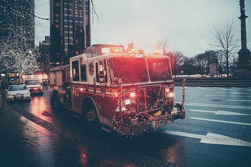 Fire Truck, Ambulance, Emergency, Sirens, Lights