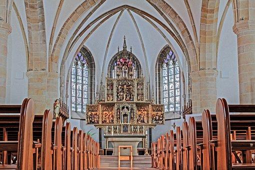 Nave, Meppen, Altar, Church, High Altar, Neo Gothic