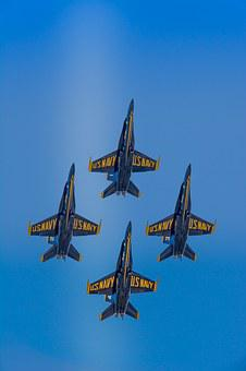 Blue Angels, F-18, Hornet, Fly, Navy, Jet, Airplane