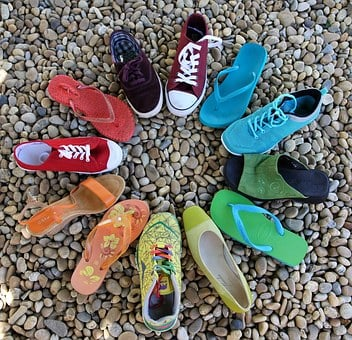 Circle, Rainbow, Shoes, Lgbt, Red, Orange, Purple