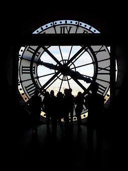 Paris, Clock, Time, People, Analog Clock, Ticking