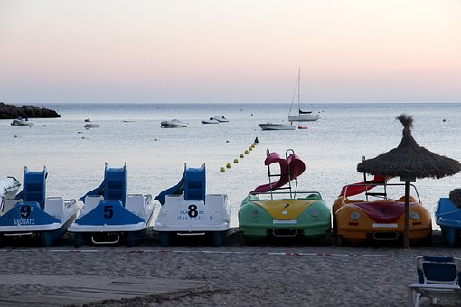 Sea, Pedal Boats, Beach, Boot, Dusk, After Work, Break
