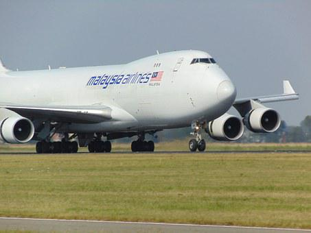 Plane, Boeing747, Malaysia Airlines, Take Off, Overflow