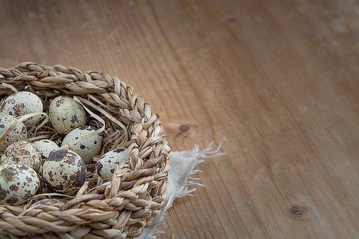 Basket, Egg, Quail Eggs, Small, Small Eggs