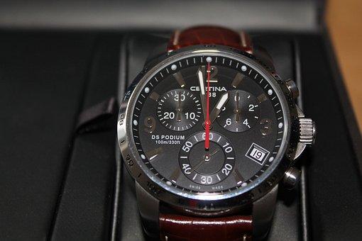 Wristwatch, Chronograph, Quartz, Gents, Box