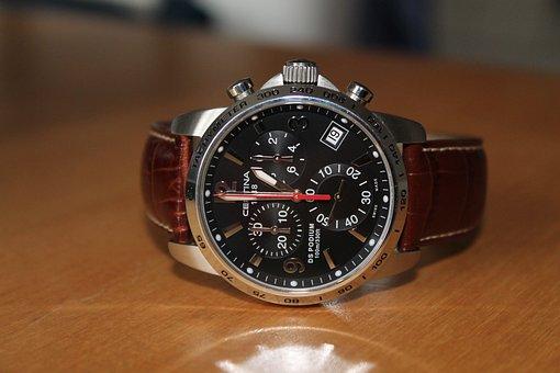 Wristwatch, Chronograph, Quartz, Steel, Gents