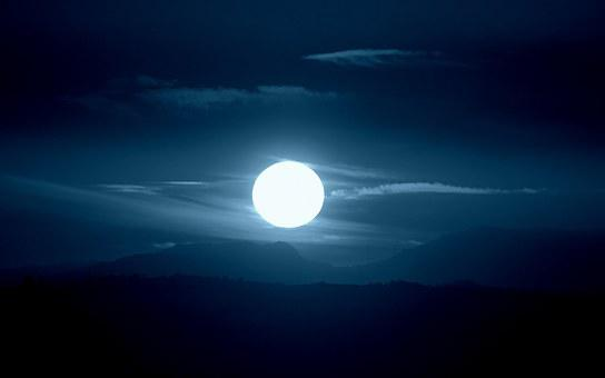 Sun, Blue Tone, White, Atmosphere, Fog, Reflection