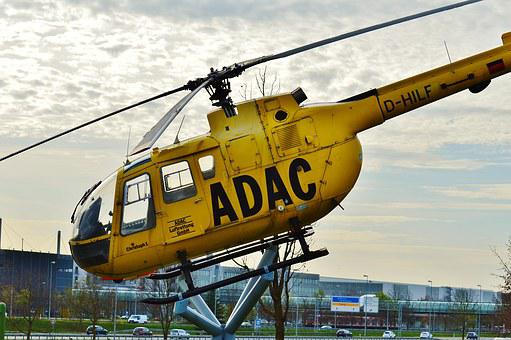 Helicopter, Adac, Rescue Helicopter, Air Rescue, Rescue