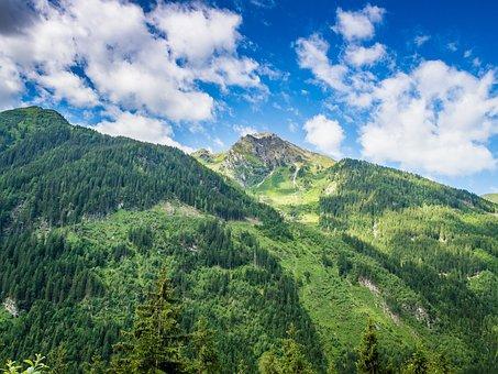 High Mountains, Landscape, Alpine, Nature, Rock, Blue