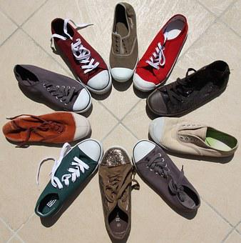 Baskets, Colorful, Shoes, Fresh, Multicolored, Summer