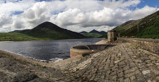 Silent Valley, Ireland, Uk, Sky, Belfast, Dam, Scenic