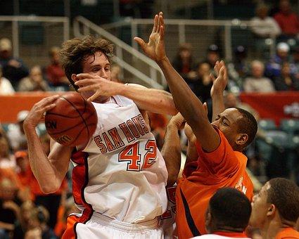 Basketball, Player, Rebound, Action, Ball, Sport